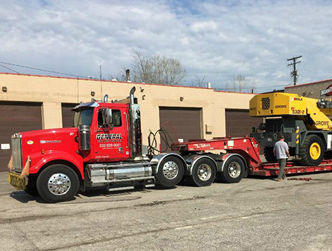 heavy hauling rentals available with General Crane Rental, LLC