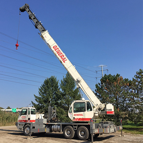 truck crane rental ohio available from General Crane Rental, LLC
